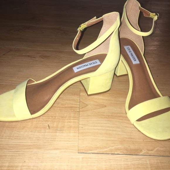 1164d6c46c4 Yellow Steve Madden Irenee sandals. M 5a8c955705f430de0e70501b